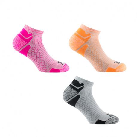 Lot de 3 paires de Socquettes Color-Run