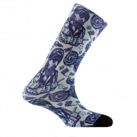 Mi-chaussettes imprimées Tatoo