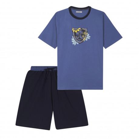 Pyjama short et tee-shirt coton BIO MARINER
