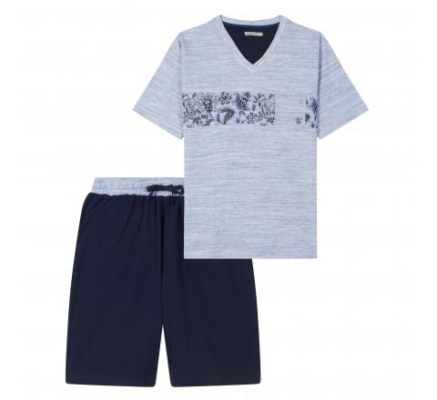 Pyjama short et tee-shirt col V MARINER