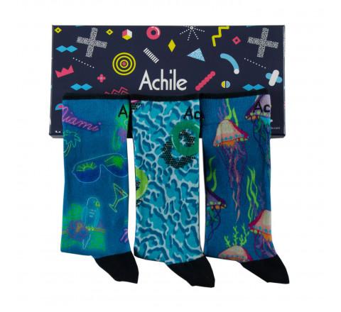 """Coffret homme 3 paires de chaussettes """"SUMMER"""" Achile"""