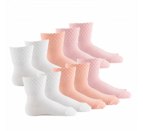 Lot de 10 paires de socquettes bébé fabriqué en France PASTEL