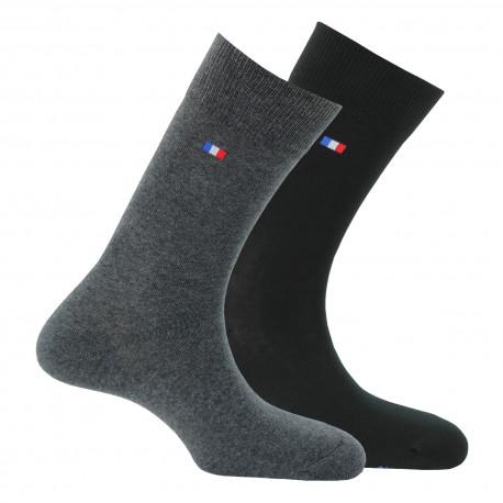 Lot de 2 paires de chaussettes fabriquées en France