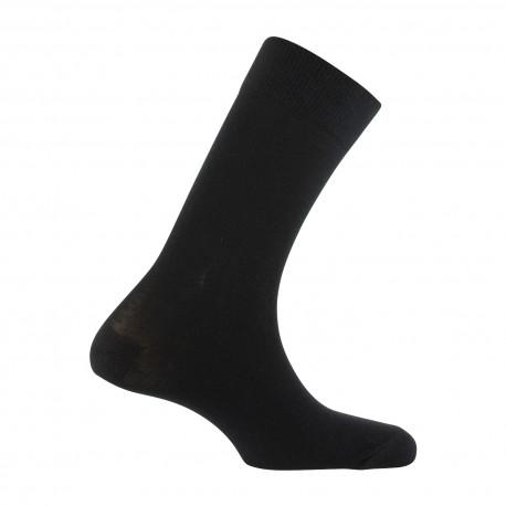 Mi-chaussettes homme unies en pur coton bio