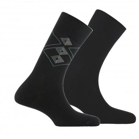 Lot de 2 paires de mi-chaussettes raffinées MADE IN FRANCE