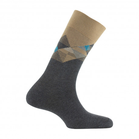 Mi-chaussettes color block contrasté MADE IN FRANCE