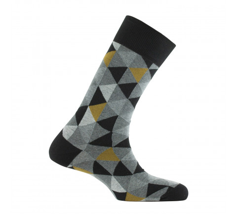 Mi-chaussettes all over triangles MADE IN FRANCE