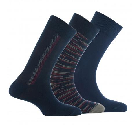 Lot de 3 paires de mi-chaussettes fantaisies