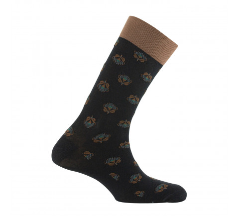 Mi-chaussettes jersey all over floral