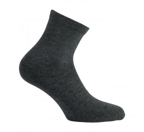 Socquettes unies en pur coton bio pour Femme