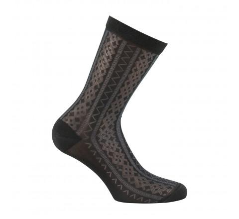 Mi-chaussettes femme dentelle romantique MADE IN FRANCE