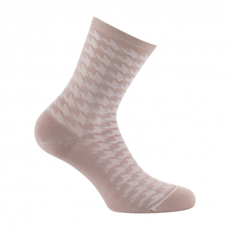 Mi-chaussettes femme pied de coq MADE IN FRANCE
