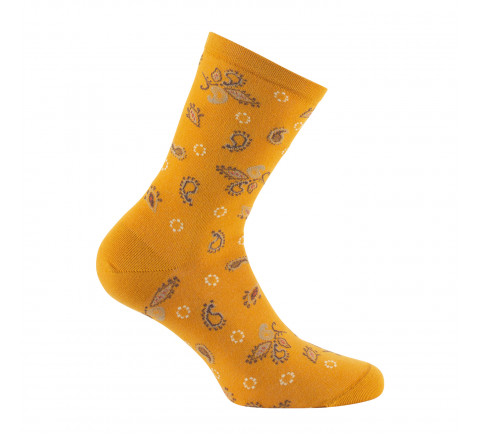 Mi-chaussettes all over cachemires MADE IN FRANCE