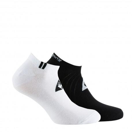 Lot de 2 paires de chaussettes invisibles jersey LE COQ SPORTIF