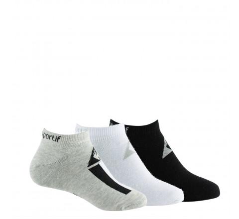 Lot de 3 paires de chaussettes invisibles Enfant LE COQ SPORTIF