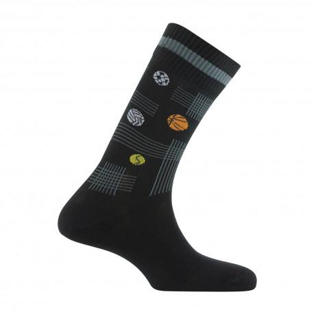 Mi-chaussettes motifs balles multisport