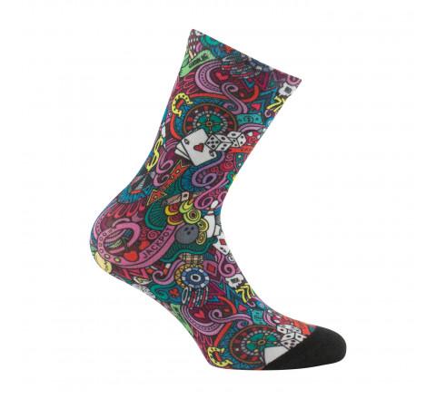 Mi-chaussettes imprimées Casino