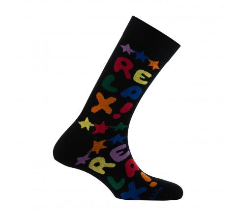 Mi-chaussettes fantaisies Relax en coton