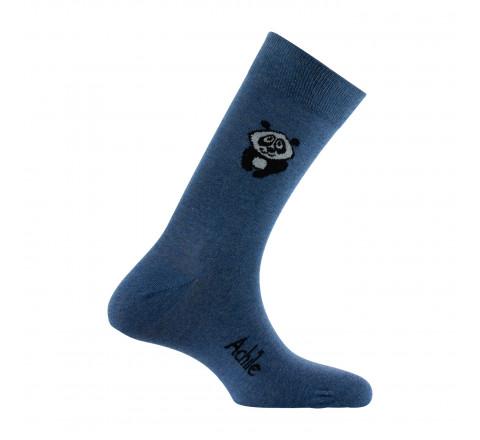 Mi-chaussettes fantaisies au motif panda