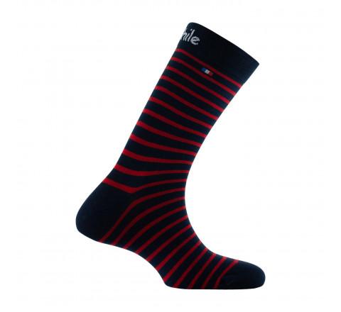 Mi-chaussette rayure et drapeau Marque Française