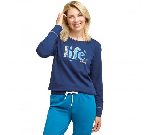 "Pyjama long ""Life"" pour femme"