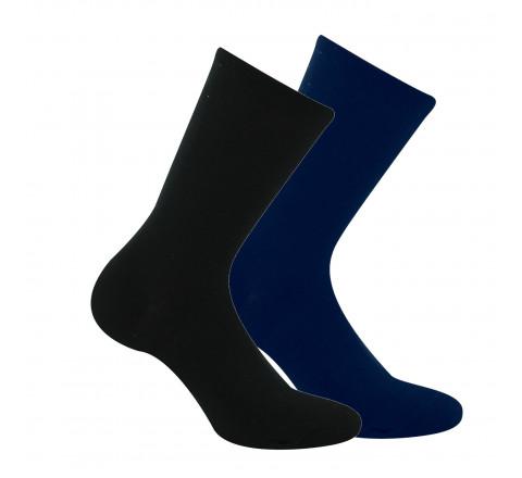 Lot de 2 paires de chaussettes unies en fil recyclé MADE IN FRANCE