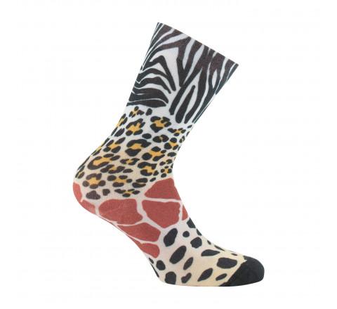 Mi-chaussettes imprimées Peaux de bêtes