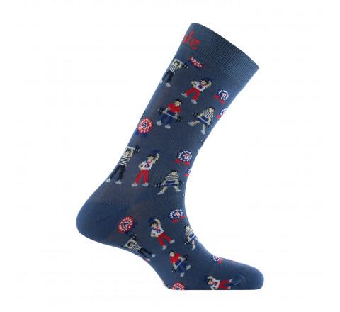 Mi-chaussettes Haltères en coton