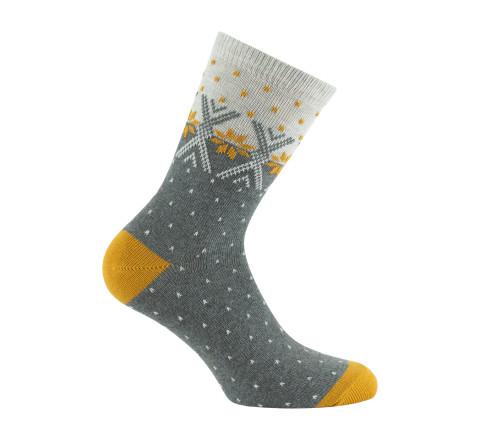 Mi-chaussettes motifs hivernaux - Femme