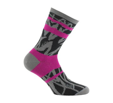 Mi-chaussettes color block contemporain