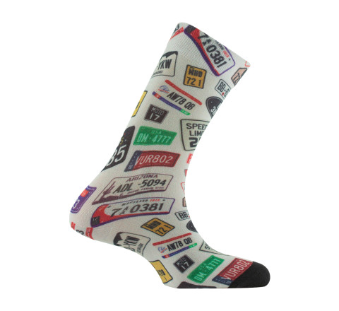 Mi-chaussettes plaques d'immatriculation en viscose