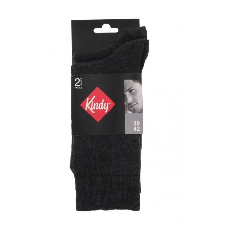 Pack 2 mi-chaussettes jersey unies anti-odeur