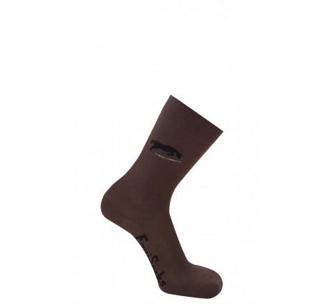 Chaussettes motif Cheval en coton