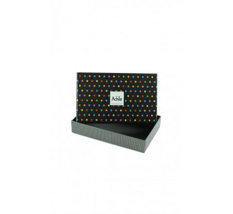 Boîte cadeau motif pois Achile - 2 paires