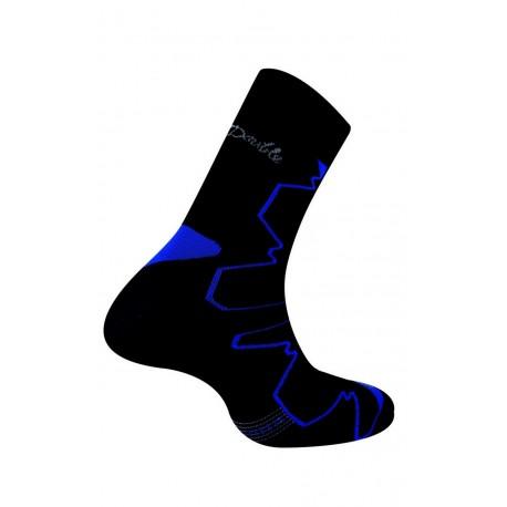 Mi-chaussettes Double-Trek pour randonnée noir/bleu