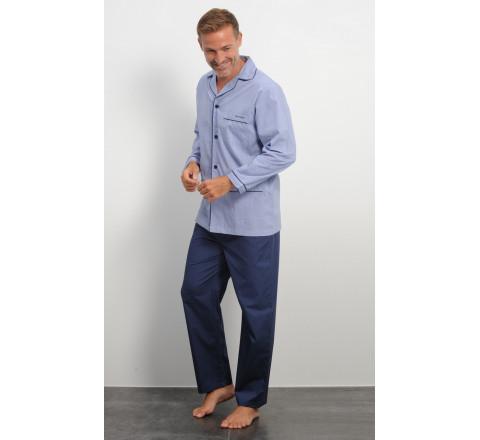 Pyjama long en coton Mariner