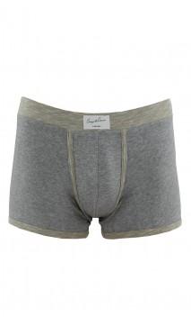 Boxer gris chiné en coton Coup de Coeur
