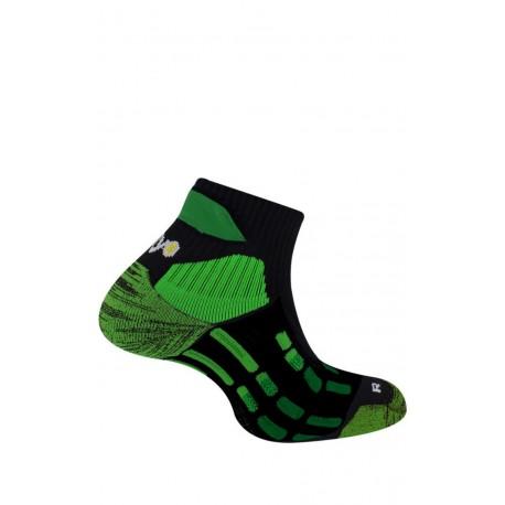 Socquettes Pody Air Trail noir/vert fluo