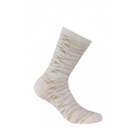 Chaussettes motif zébrures en coton
