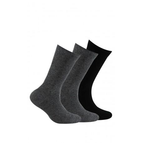 Pack 3 paires de chaussettes unies jersey