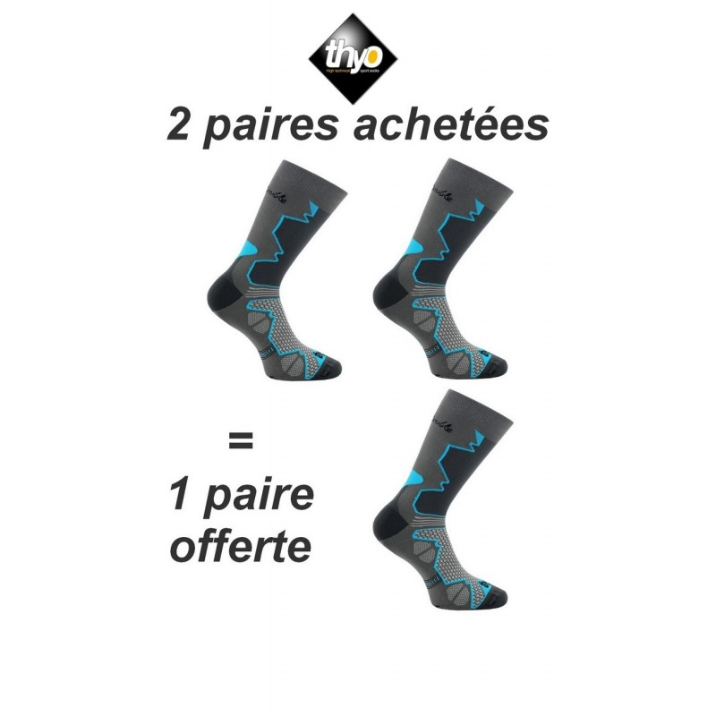 ef76a9f5531 2 paires + 1 gratuite de chaussettes Double-Trek pour randonnée. Loading  zoom