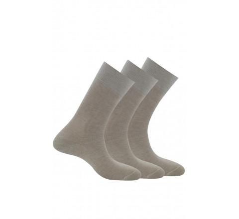 Pack de 3 paires de chaussettes pur coton