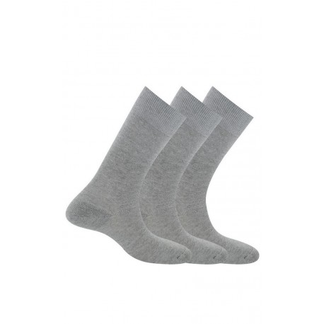 Pack 3 mi-chaussettes jersey unies anti-odeur