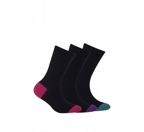 Chaussettes en coton vendues en lot de 3 paires
