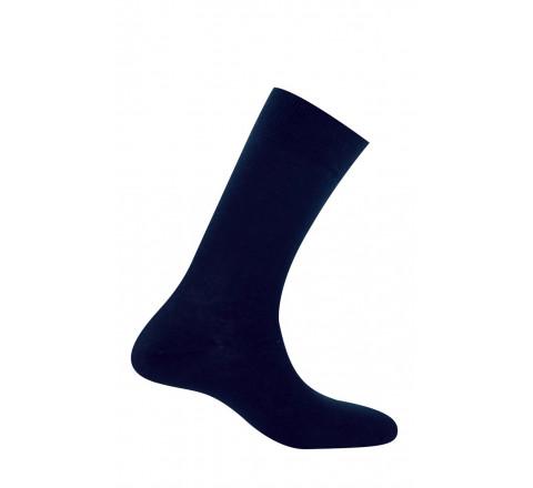 Mi-chaussettes homme jersey unie pur coton