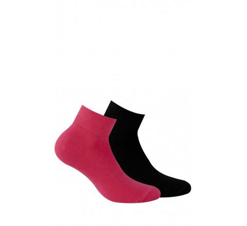 Chaussettes courtes avec bord confort vendues en lot de 2 paires