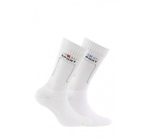 Lot de 2 chaussettes de sport enfant coton