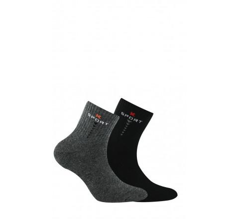 Lot de 2 chaussettes courtes sport enfant coton