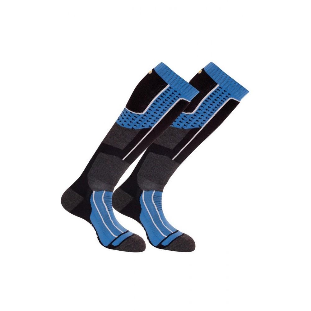 Lot de 2 paires de mi-bas ski Isol-Tech 2 - Couleur - Bleu, Pointure - 38-40