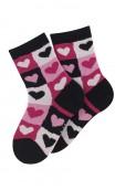 Mi-chaussettes motif coeurs modèle Darling en coton